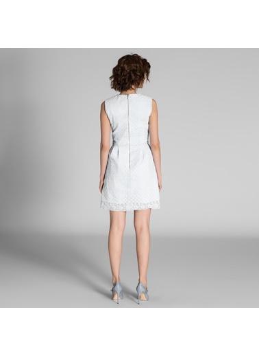 Sıfır Yaka Dantel Elbise-Vekem